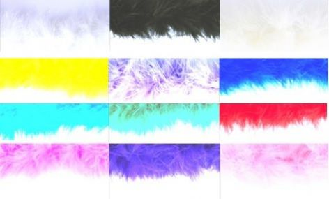 Marabou Trim: 10m - Full Colour Range
